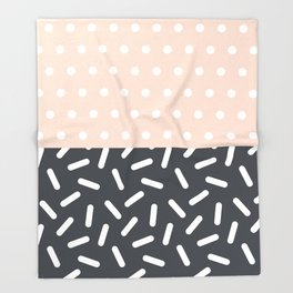 Random Geo - Dots and Dashes Throw Blanket