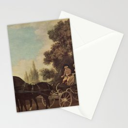 George Stubbs - A Gentleman driving a Lady in a Phaeton Stationery Cards
