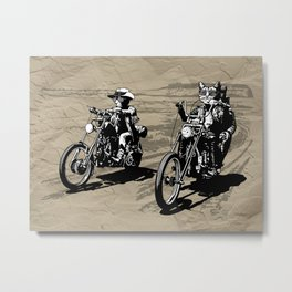 Kitty Rider Metal Print