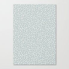 SILVER STARS CONFETTI Canvas Print