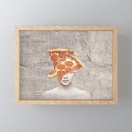 Pepperoni Pizza VISION collage Framed Mini Art Print