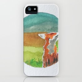 Rounded fox iPhone Case