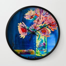 Study In Blue Wall Clock