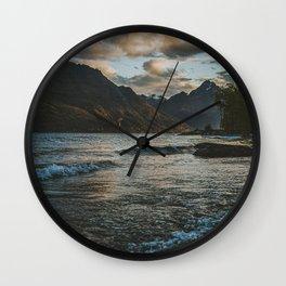 glimpse of sunset Wall Clock