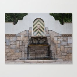 Fountain in Figueres Canvas Print