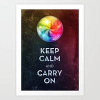 keep calm Art Prints featuring Keep Calm by Michael Flarup