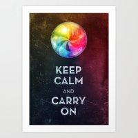 keep calm Art Prints featuring Keep Calm by Michael Flarup