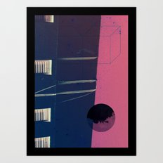 upside world Art Print