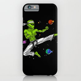 Space Alien Karate Ninja iPhone Case