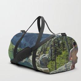 Emerald Green Alpine Lake Duffle Bag