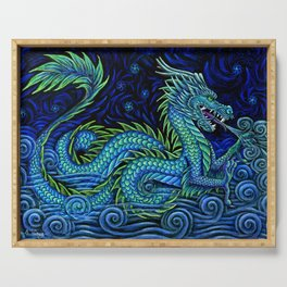 Chinese Azure Dragon Serving Tray