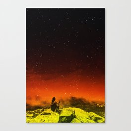 Burning Hill Canvas Print