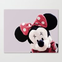 minnie mouse Canvas Prints featuring Minnie Mouse by Ning Watson