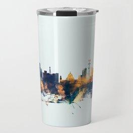 Calcutta Kolkata India Skyline Travel Mug