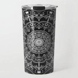 Bluegate Mandala 2 BlackWhite Travel Mug