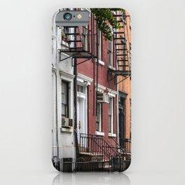 Picturesque street view in Greenwich Village, New York iPhone Case