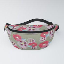 Poppies In The Park Pattern Fanny Pack