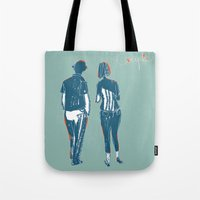 couple Tote Bags featuring Couple by Thomas Campi