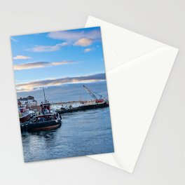 Tugboats At Dusk Stationery Cards