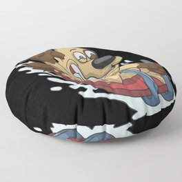 Sledding sleigh super fast Floor Pillow