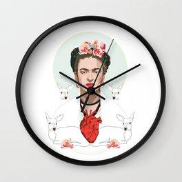 Frida Kahlo (Light) Wall Clock