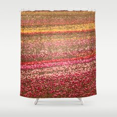 Tulip Fields in Stained Glass Shower Curtain