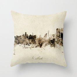 Kolkata India Skyline Throw Pillow