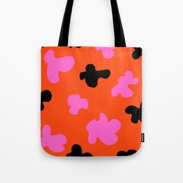 Grell 003 / A Dazzling 70's Pattern Of Black & Pink Spots Tote Bag