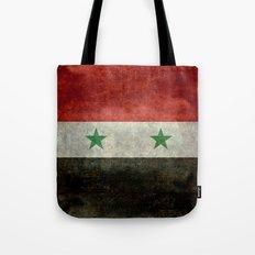 National flag of Syria - vintage Tote Bag