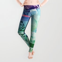 The Ultimate Destination (mixed media) Leggings