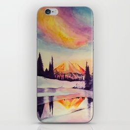 Winter Wonderland in Mount Rainer iPhone Skin