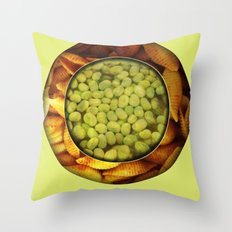 Food Mix Tris Throw Pillow