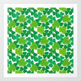 Shamrock Pattern Art Print