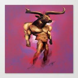 Fuschia Bull Canvas Print