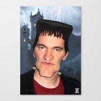 quentin tarantino Canvas Prints featuring Quentin Tarantino by Giampaolo Casarini