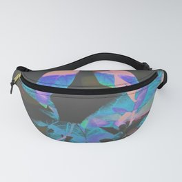 """""""Patterns of Nature"""" Houseplants behind Curtains in Backlight - invert version Fanny Pack"""