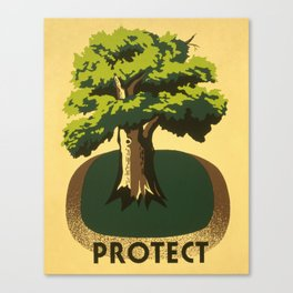 Protect greenery Canvas Print