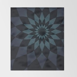 Wonderland Floor in Muted Rain Colors Throw Blanket