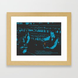 1.23 am. Tuesday. Framed Art Print