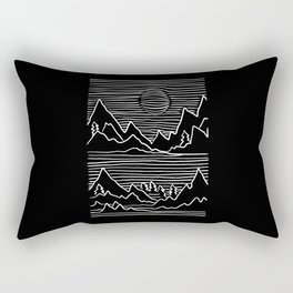 Abstract Mountains Hiker Outfit Rectangular Pillow