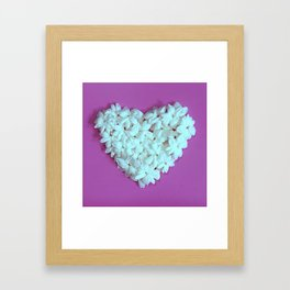 Heart on Lilac Framed Art Print