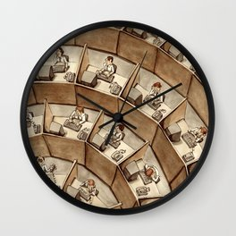 The Rings of Cubicle Hell Wall Clock