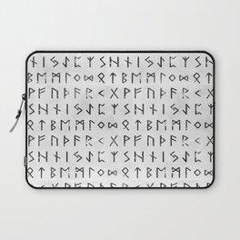 Futhark full runic print (Viking runes) white version Laptop Sleeve