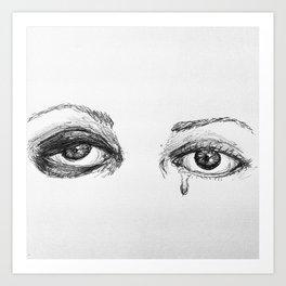 un oeil au beurre noir Art Print