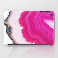 agate iPad Cases featuring Pink Agate Slice by cafelab