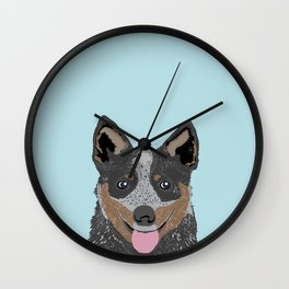 Kellan - Cattle Dog gifts for dog lovers and australian cattle dog gifts for dog person Wall Clock