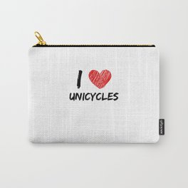 I Love Unicycles Carry-All Pouch