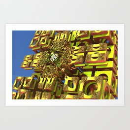 Cool fantasy architecture Art Print