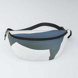 Horse - Two - Green Blue Fanny Pack