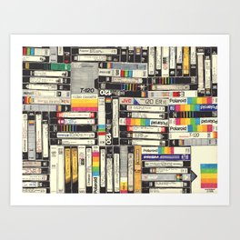 VHS Art Print